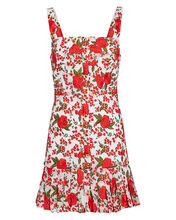 Melora Floral Embroidered Mini Dress, IVORY/RED, hi-res