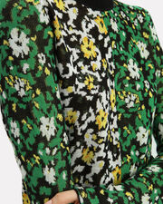 Wildflower Jacquard Knit Top, WHITE/YELLOW/GREEN/BLACK, hi-res