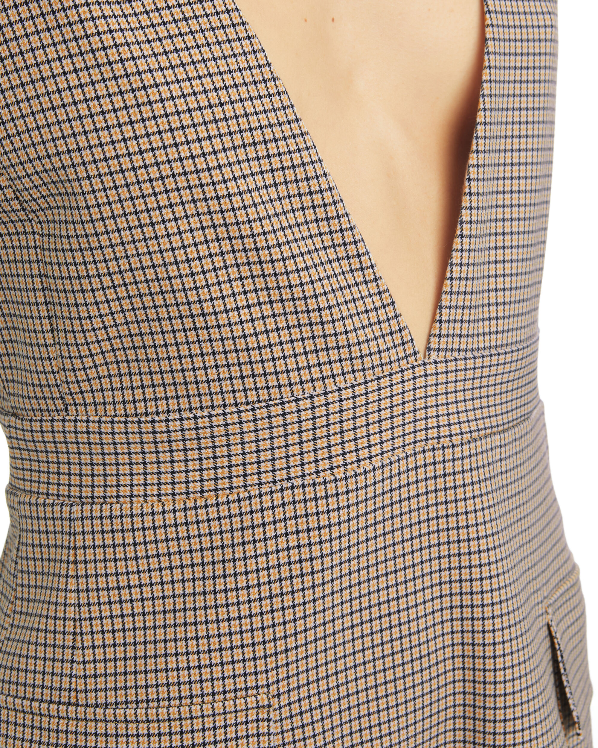 Plaid Mini Dress, WHITE, hi-res