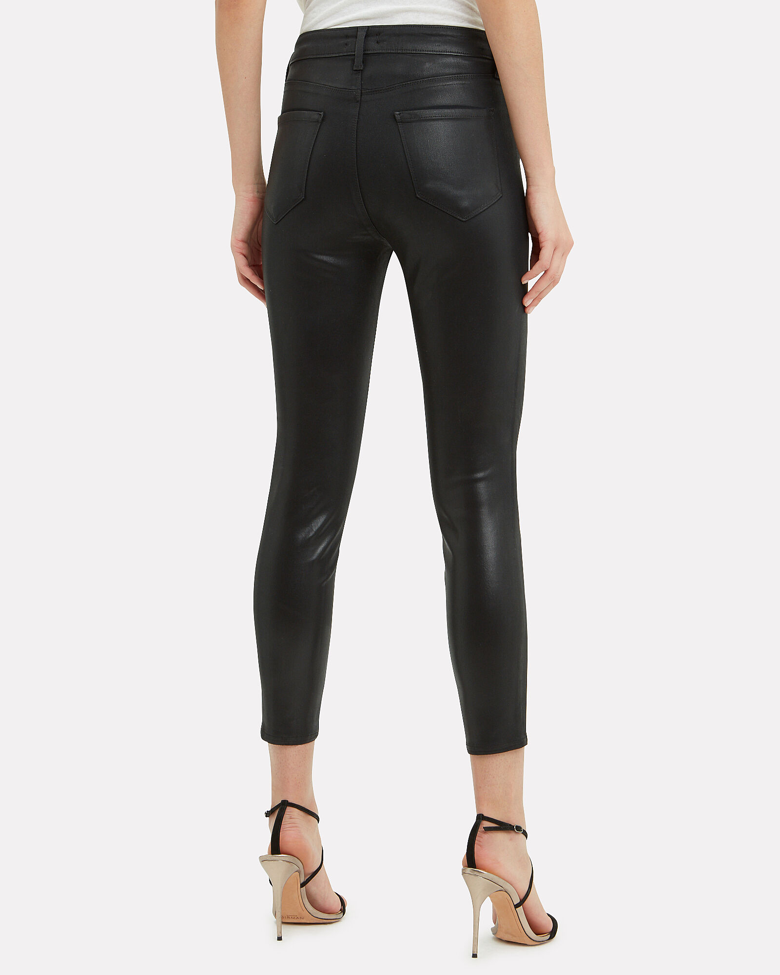 Margot Coated Skinny Jeans, BLACK, hi-res