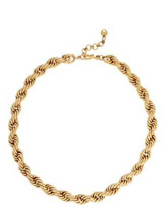 Spiral Staircase Chain-Link Necklace, GOLD, hi-res