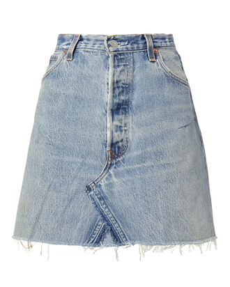 Core Denim Mini Skirt, DENIM, hi-res