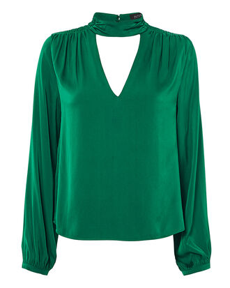 Elaine Blouse, EMERALD, hi-res