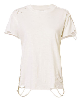 Anderson Distressed Cotton T-Shirt, CREAM, hi-res