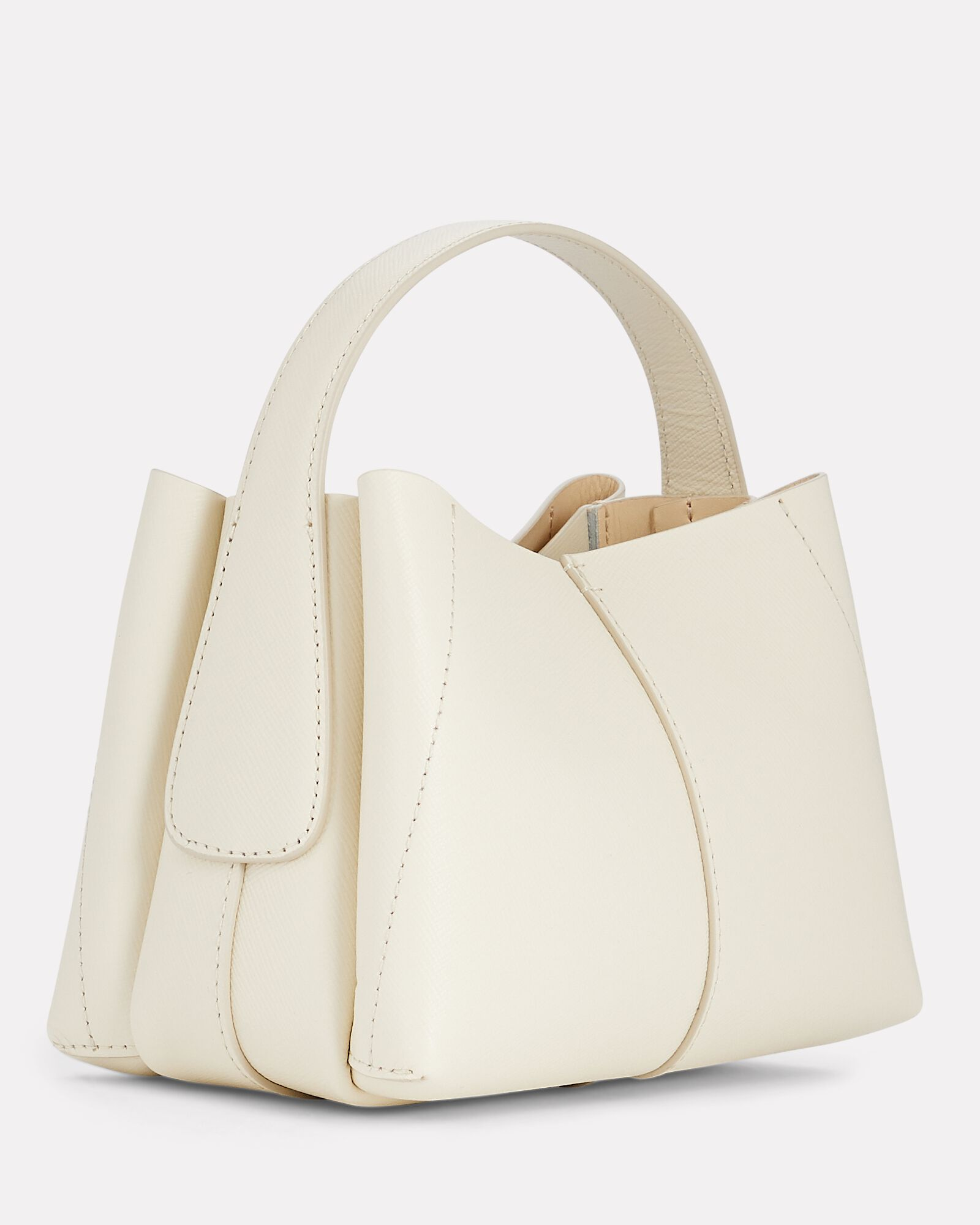 Ava Micro Leather Tote Bag, IVORY, hi-res