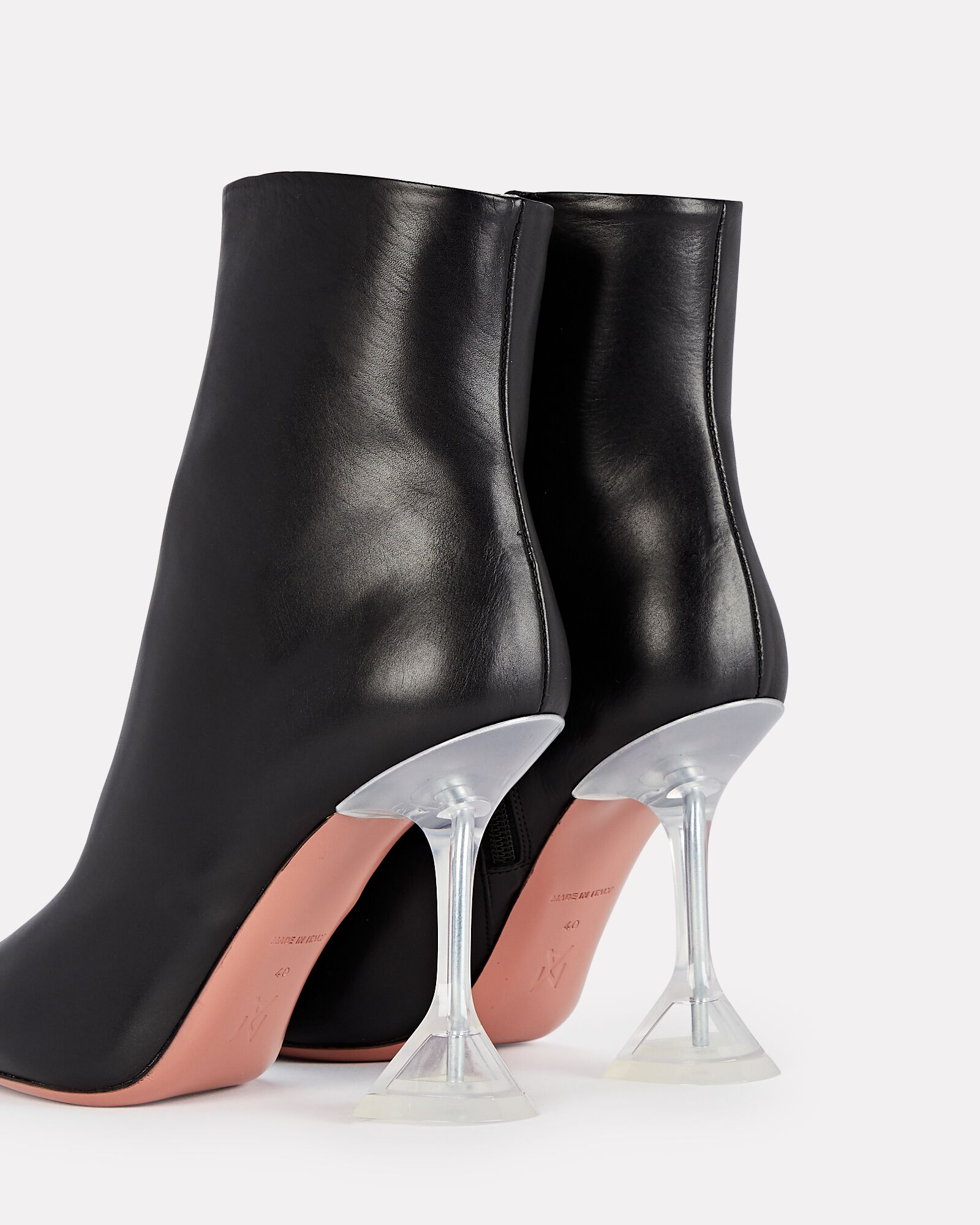 Giorgia Leather Ankle Boots, BLACK, hi-res
