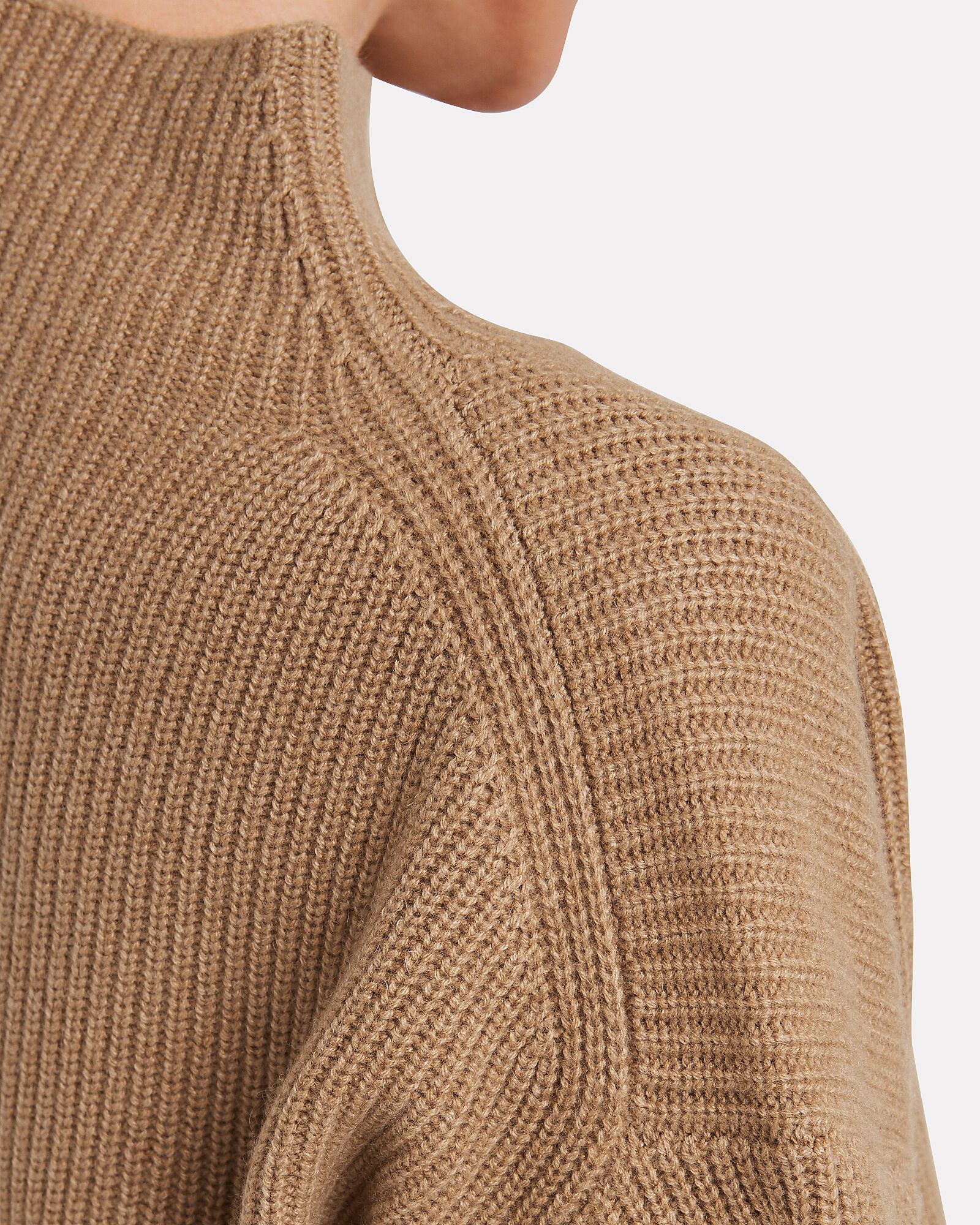 Helena Wool-Cashmere Ribbed Sweater, BROWN, hi-res