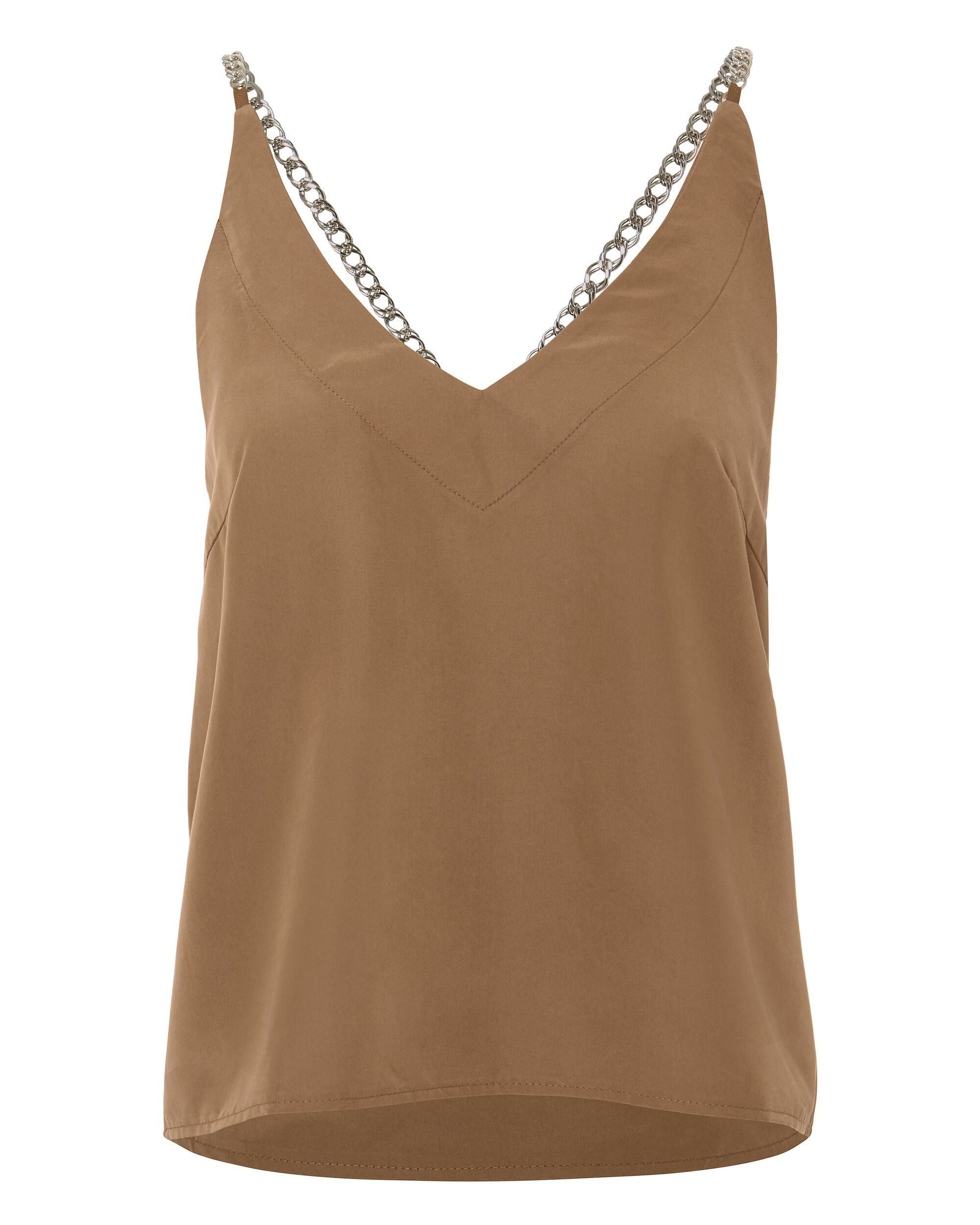Clay Chain Strap Cami, BEIGE, hi-res