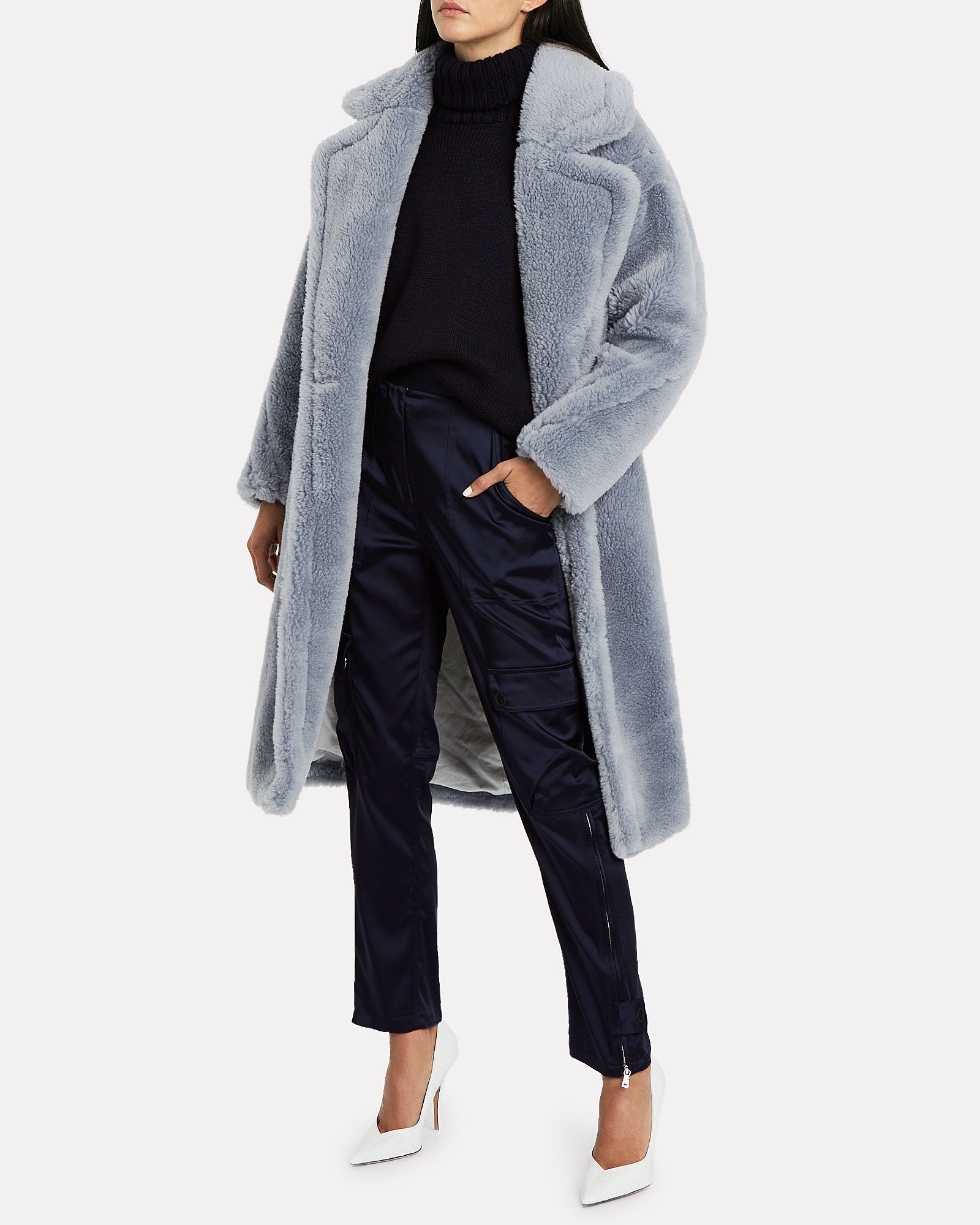 Wool Teddy Coat, BLUE-LT, hi-res