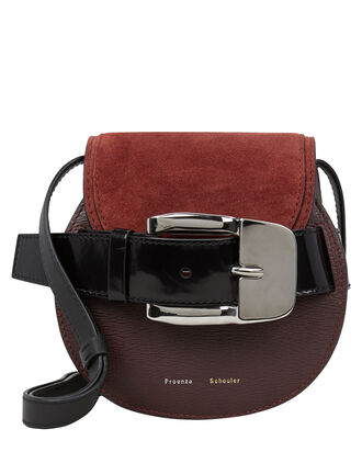 Buckle Mini Crossbody Bag, RUSSET/BURGUNDY, hi-res