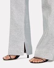 Metallic Lamé Wide-Leg Trousers, SILVER, hi-res
