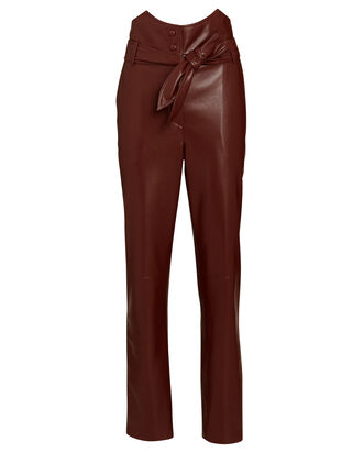 Ethan Vegan Leather Pants, BURGUNDY, hi-res