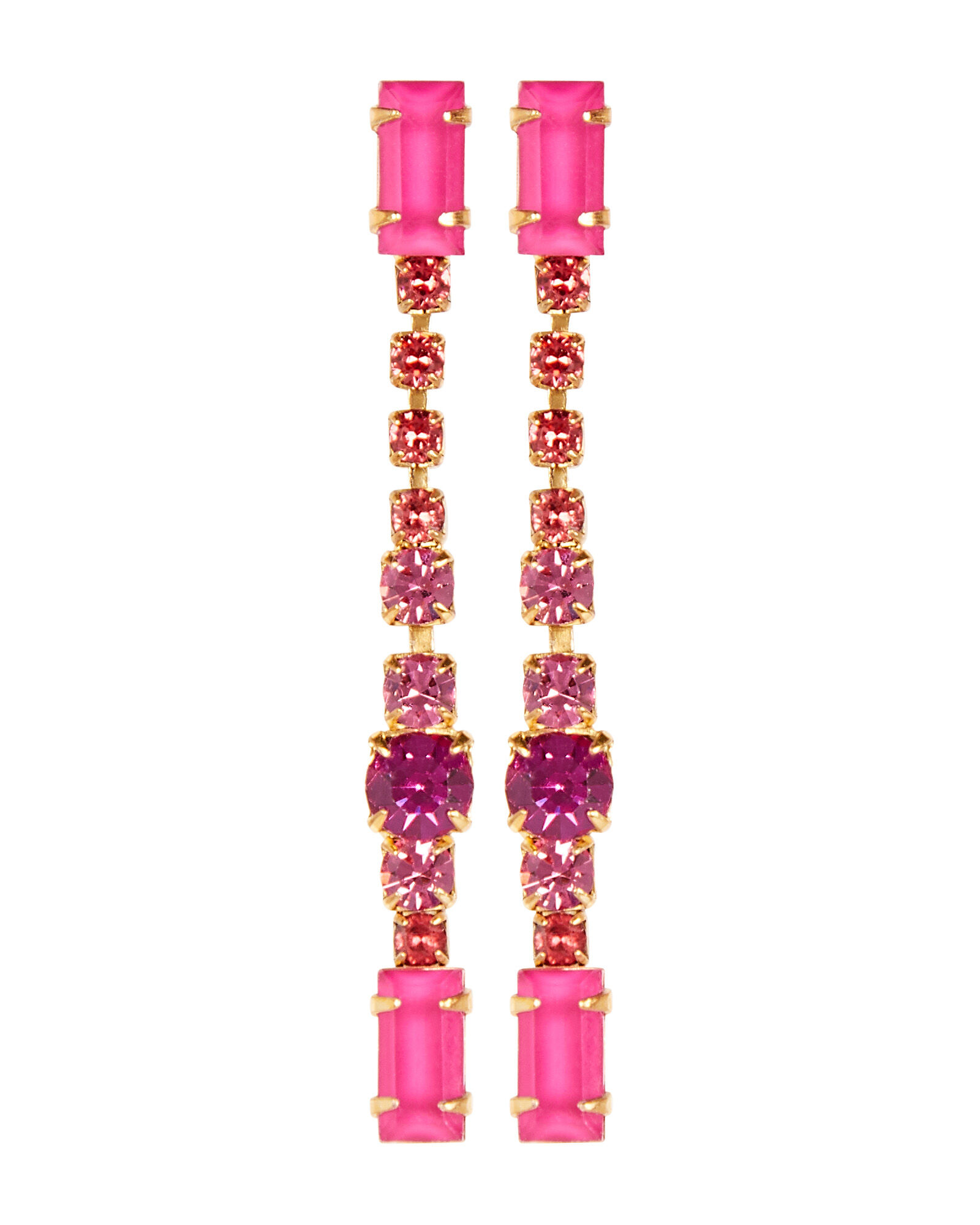 Gracelyn Linear Drop Earrings, PINK, hi-res