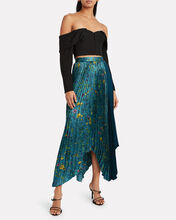 Fabie Pleated Floral Satin Skirt, MULTI, hi-res