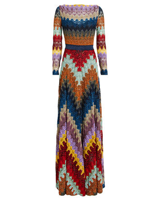 Chevron Crochet Gown, METALLIC RAINBOW, hi-res
