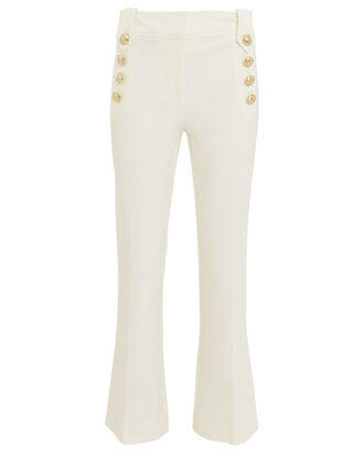 Robertson Cropped Sailor Flare Trousers, WHITE, hi-res