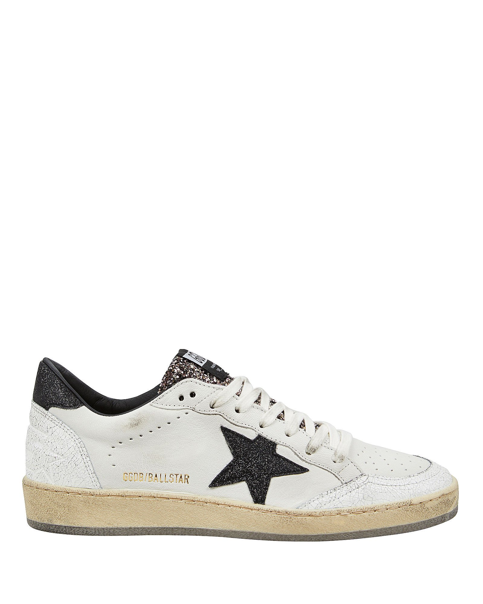 Ball Star Low Top Sneakers, BLK/WHT, hi-res