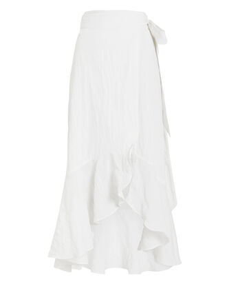 Katie Seersucker Wrap Skirt, IVORY, hi-res