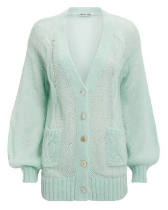 Whisper Cardigan, GREEN-LT, hi-res