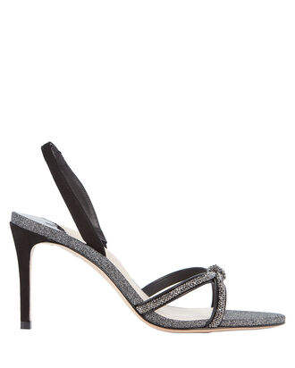 Giovanna Crystal Slingback Sandals, BLACK, hi-res
