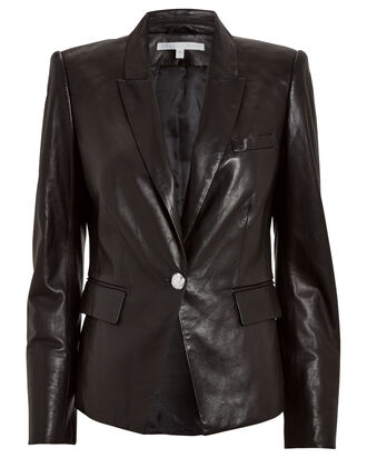 Danielle Leather Dickey Jacket, BLACK, hi-res
