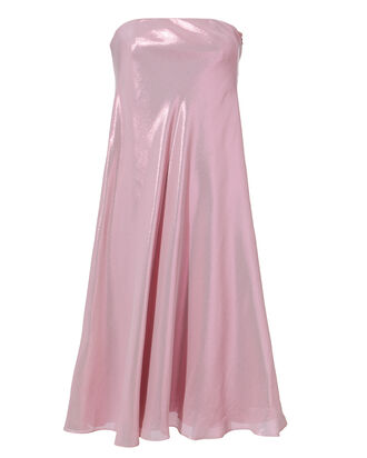 Metallic Strapless Midi Dress, PURPLE-LT, hi-res
