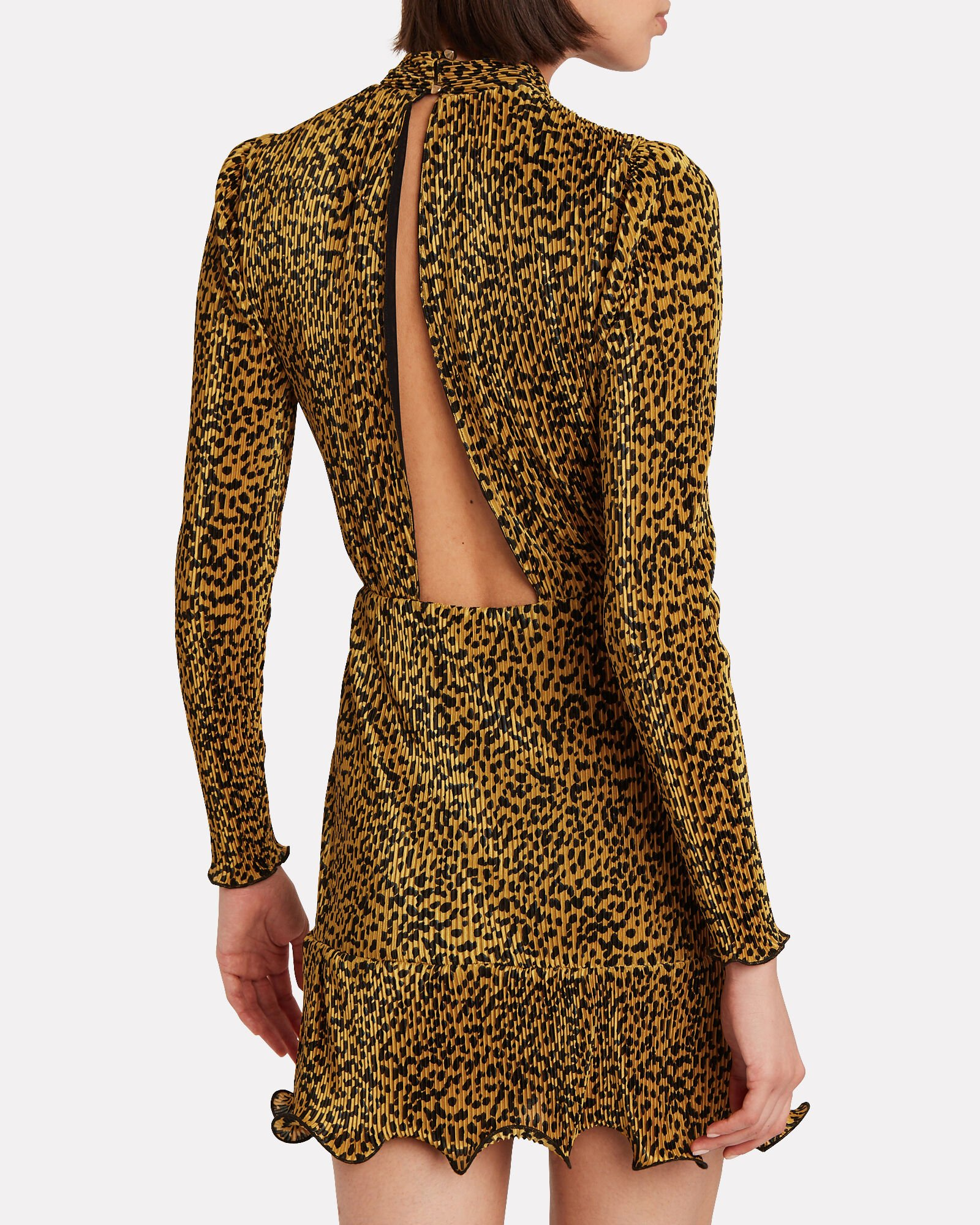 Tovah Leopard Plissé Mini Dress, LEOPARD, hi-res