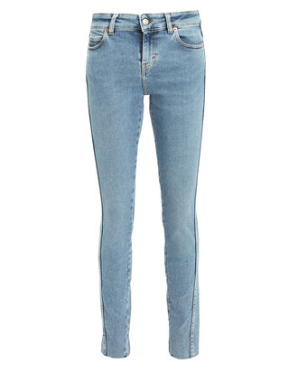 Fragile Seamed Skinny Jeans, LIGHT BLUE DENIM, hi-res