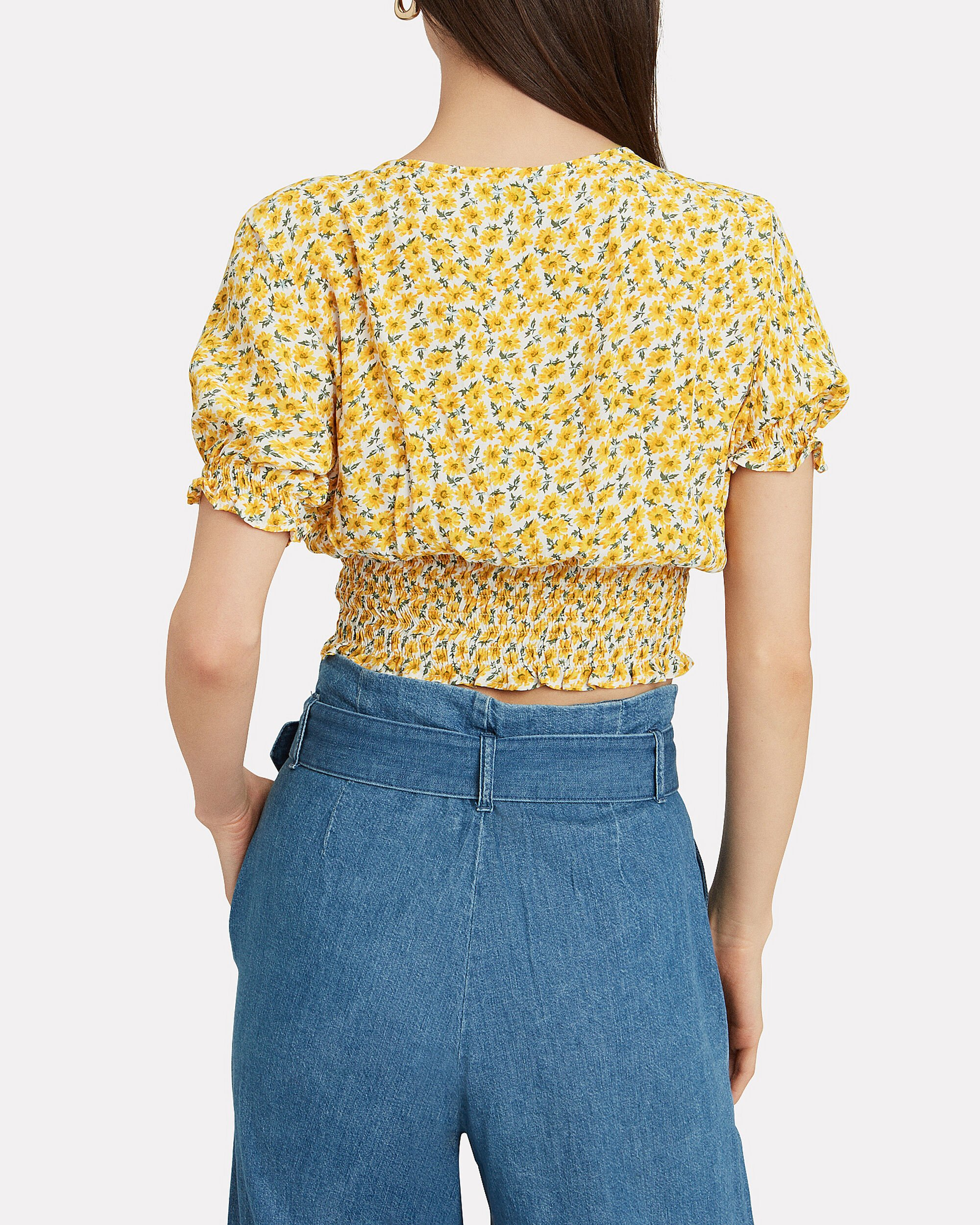 First Light Top, YELLOW/FLORAL, hi-res