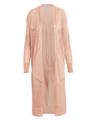 Blush Lurex Cardi Duster, PINK, hi-res