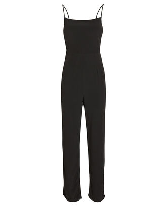 Rosalie Sleeveless Crepe Jumpsuit, BLACK, hi-res