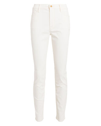Le High Coated Skinny Jeans, WHITE, hi-res
