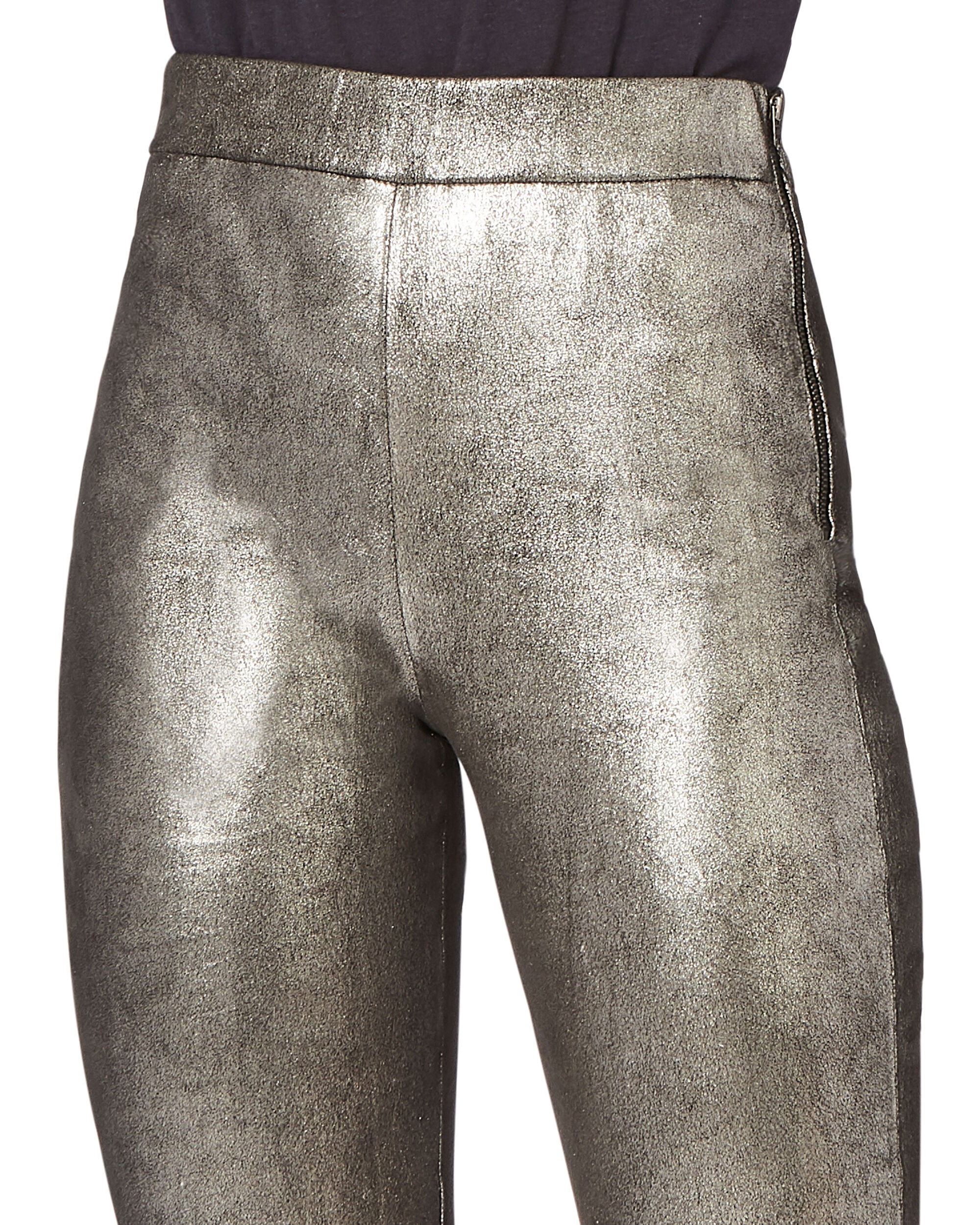 Hartley Stretch Leather Leggings, SILVER, hi-res
