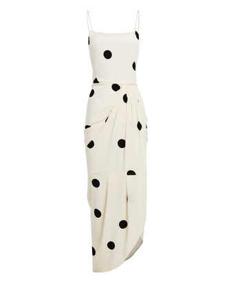 Polka Dot Sarong Dress, IVORY, hi-res
