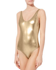 Golden One Piece Swimsuit, GOLD, hi-res