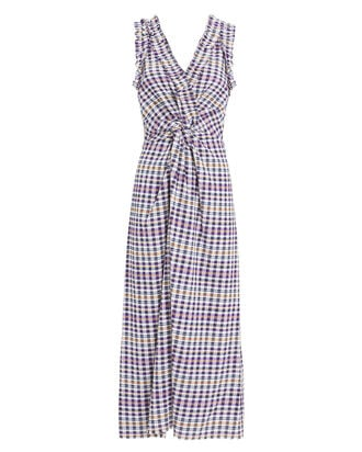 Helene Midi Dress, PURPLE/PLAID, hi-res