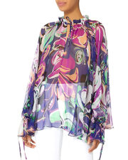 Aruba Printed Blouse, MULTI-DRK, hi-res