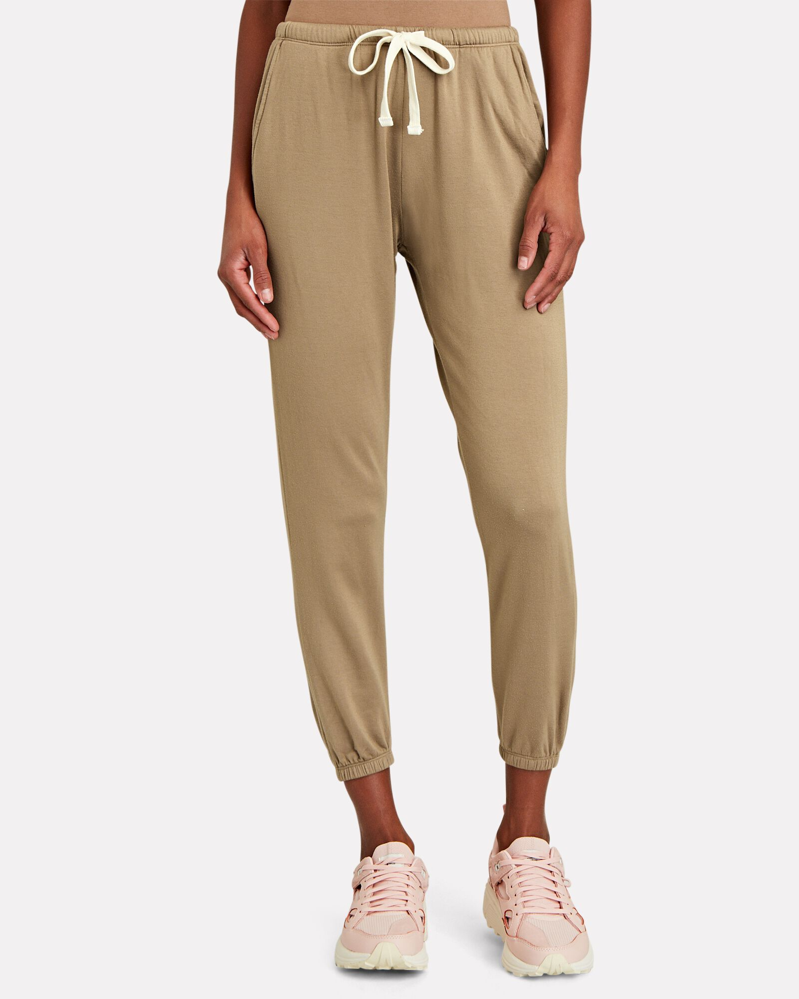 Rialto Elastic Cuff Sweatpants, BROWN, hi-res