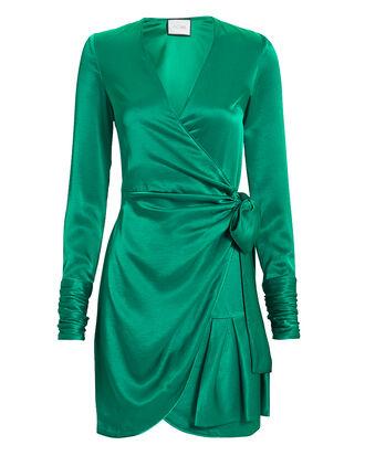 Komosa Emerald Wrap Mini Dress, EMERALD, hi-res