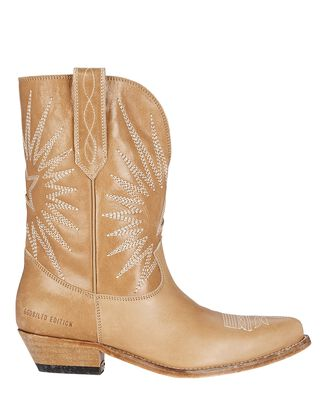 Wish Star Leather Western Boots, BROWN, hi-res