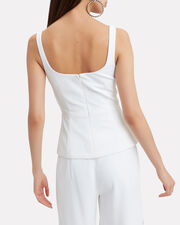 Power Viscose Peplum Top, WHITE, hi-res
