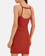 Alloy Rib Banded Dress, RED, hi-res