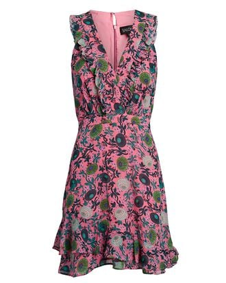 Anna Sleeveless Floral Mini Dress, PINK, hi-res