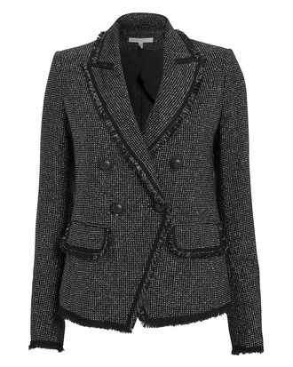 Frisco Lurex Tweed Jacket, BLACK/SILVER, hi-res