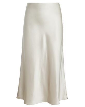 Mika Silk Slip Skirt, LIGHT GREY, hi-res