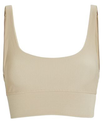 Leah Rib Knit Top, BEIGE, hi-res
