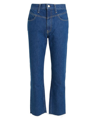 Heidi Straight Cropped Yoke Jeans, DENIM, hi-res