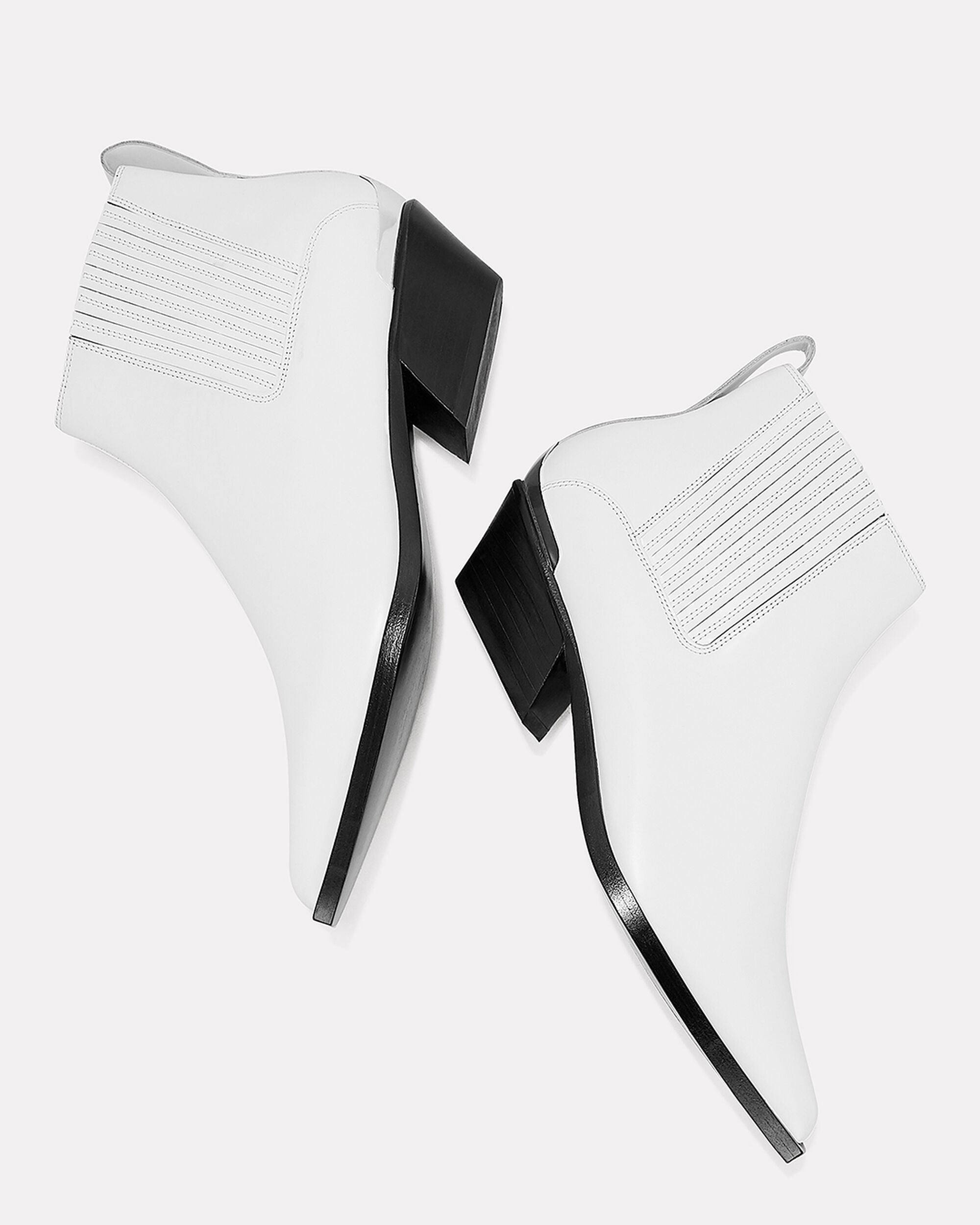 Westin Leather Booties, WHITE, hi-res