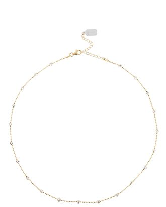 Lina Two-Tone Ball Chain Necklace, GOLD/SILVER, hi-res
