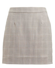 Mother Tongue Checked Mini Skirt, BEIGE/CHECK, hi-res